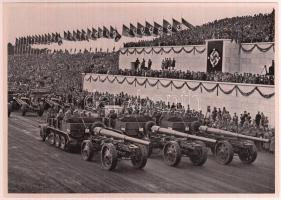 1935 Tag der Wehrmacht nagyméretű cigaretta gyűjtőkép. Náci propaganda / Large nazi propaganda cigarette collectors card 12x17 cm