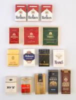 15 db különféle bontatlan cigaretta, kb 10 éves lehet