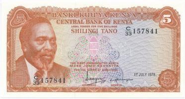 Kenya 1978. 5Sh T:I Kenya 1978. 5 Shillings C:UNC Krause 15