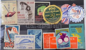 13 db holland levélzáró / dutch poster stamps