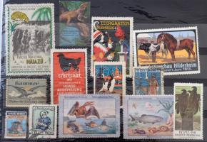 14 db állatos levélzáró / animals poster stamps