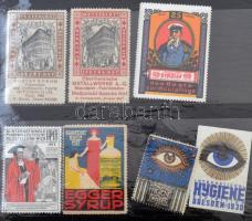 7 db higénia témájú levélzáró / 7 Hygenics thematic poster stamps