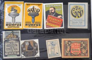 8 db plakát és nyomdaipar témájú levélzáró