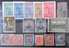 16 db szlovén levélzáró és segélybélyeg / Slovenian poster stamps