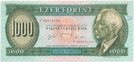 1996. 1000Ft E nyomdai papírráncból eredő nyomathibával T:III