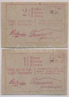 Hajmáskér / Hadifogolytábor 1914. 1K + 2K mindkettő 1. kiadás T:I-
