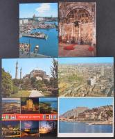Kb. 200 db MODERN európai városképes lap / Cca. 200 modern European town-view postcards