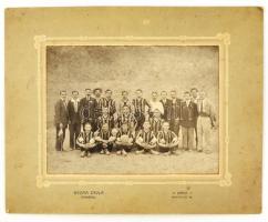 cca 1900 Labdarúgó csapat, Kozma Gyula fényképe, 15x20 cm.
