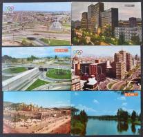 Kb. 180 db MODERN mexikói városképes lap / Cca. 180 modern Mexican town-view postcards