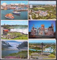 Kb. 100 db MODERN kanadai városképes lap / Cca. 100 modern Canadian town-view postcards