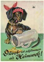 Gruss vom Oktoberfest! / Dachshund-humour (EK)