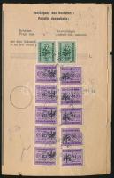 Laibach 1945 Pénzutalványok listája 3,50L 12 db-os bérmentesítéssel (1 bélyeg sérült)