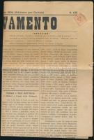 1894 Olasz nyelvű irredenta szlovén újság Il Rinnovamento, osztrák hírlapbélyeggel