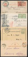 1878-1915 4 db küldemény