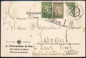 1921 Felezett 10p bélyeg levelezőlapon