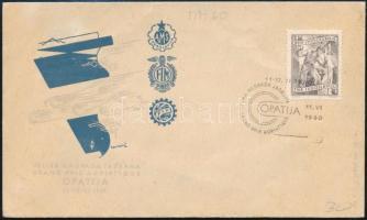 1960 Grand Prix Adriatique alkalmi bélyegzés címezetlen borítékon