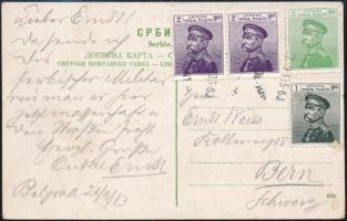 1913 Militária képeslap Svájcba