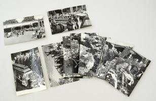 1983 Vas Zoltán (1903-1983) politikus temetésének fotói, 21 db, Székely Tamás fotói, a hátoldalon jelölve, 12x18 cm