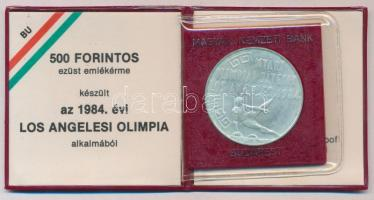 1984. 500Ft Ag Nyári Olimpiai Játékok - Los Angeles eredeti tokban, tanúsítvánnyal T:BU Adamo EM79