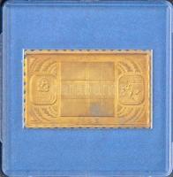 1983. Naptár / Kézilabda sárgaréz bélyegérem eredeti ÁPV tokban (22x37mm) T:PP