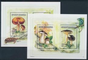 Nature: Insects, fungi, minerals 2 minisheets Természet: Rovarok, gombák, ásványok 2 db kisív