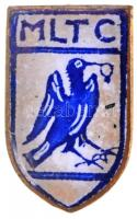 ~1930. MLTC (Mátyásföldi Lawn Tennis Club) zománcozott jelvény, ARKANZAS gyártói jelzéssel (11x18mm) T:2