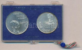 1973. 50Ft Ag + 100Ft Ag Petőfi pár eredeti, plombált MNB plasztiktokban T:BU