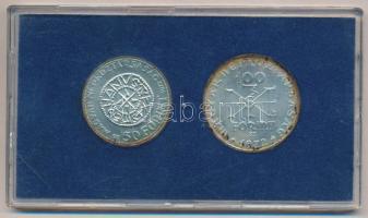 1972. 50Ft Ag + 100Ft Ag Szent István pár, kék plasztiktokban T:BU patina Adamo EM38, EM39