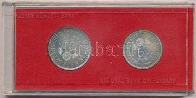 1969. 50Ft Ag + 100Ft Ag Tanácsköztársaság pár, eredeti piros MNB tokban T:BU