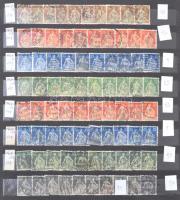 SVÁJC közel 2.000 forgalmi bélyeg tízesekben, közel 200 klf tízes jobbakkal 12 lapos A/4 berakóban