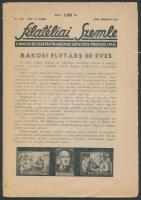 A Filatéliai Szemle 1952 márciusi száma Rákosi 60. születésnapja és a MABÉOSZ megalakulása alkalmából írt cikkekkel