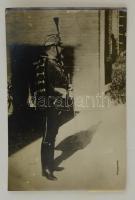 1914 Ferdinánd bolgár király. Korabeli sajtófotó, hozzátűzött szöveggel / Ferdinand king of Bulgaria. Press photo 16x11 cm