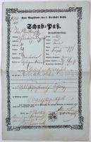 1859 Pest városában kiadott útlevél Schuh pass / Passport