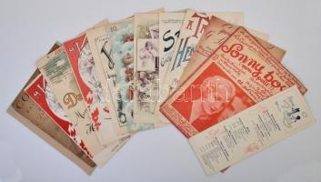 cca 1920-1950 Zenei témájú nyomtatványok, füzetek, litografált címlapos kották gyűjteménye nagyobb tételben.