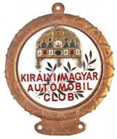 ~1990. Királyi Magyar Automobil Club zománcozott Br autójelvény (102x84mm) T:2