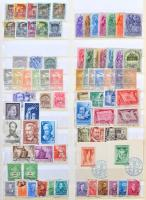 Magyar sorok általában 2, esetenként több példányban 1958-1970 (+ kevés főleg bélyegzett régebbi és újabb bélyeg) 15 lapos nagyalakú KABE rugós berakóban