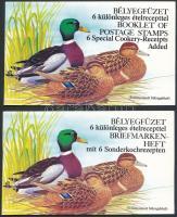 1989 Récék felülnyomattal angol és német nyelvű felülnyomott bélyegfüzet (11.000)