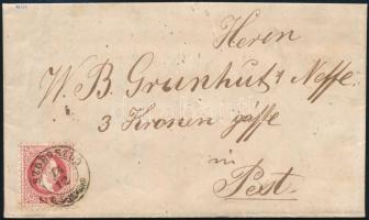 1870 5kr levélen / on cover SZOBOSZLÓ - Pest