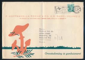 Levél Budapestre (gomba motívum) Cover to Hungary (mushroom)