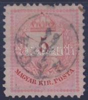 1881 5kr (foghiba) RACA gyűszűbélyegző