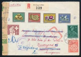 Ajánlott levél Budapestre Registered cover to Hungary