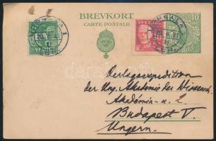 Díjjegyes levelezőlap Budapestre PS-card to Hungary