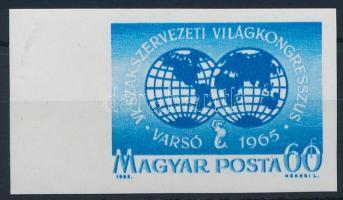 1965 A Varsói Szakszervezeti Világkongresszus vágott ívszéli érték