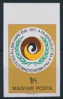 1971 Faji megkülönböztetés elleni harc vágott ívszéli bélyeg