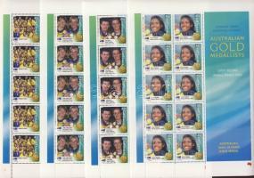 2000 Sydney, olimpiai aranyérmesek kisívsor Mi 1973 II-1988 II