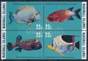 Halak sor négyestömbben Fishes set in block of 4