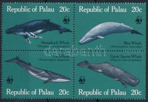 WWF: Bálnák sor négyestömbben WWF: Whales set in block of 4