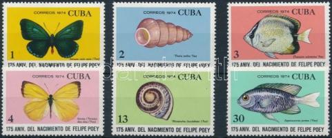 1974 175 éve született Felipe Poey természetkutató sor Mi 1968-1973
