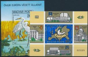 1980 Madarak és Európai Biztonsági és Együttműködési Értekezlet (V.) vágott blokk (12.000)