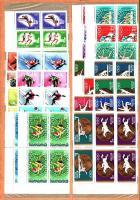 1964-1970 10 klf Sport motívum sor négyestömbökben, 2 db A/4 berakólapon